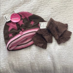 Limited Too Hat and Fingerless gloves set NWT